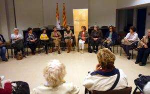 Moment de la reunió de l'Assemblea Territorial de Dones de la Catalunya Central