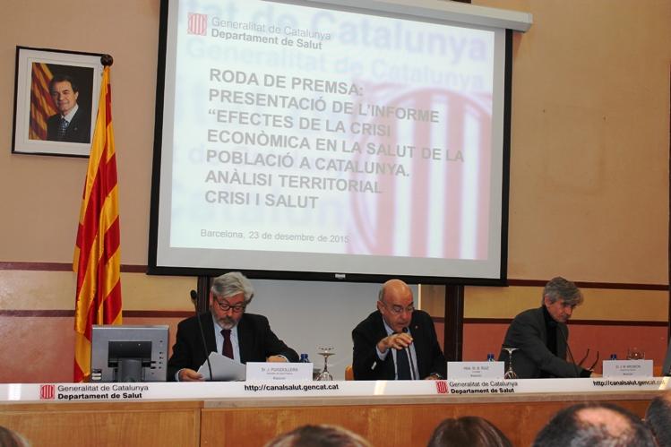 El conseller de Salut, Boi Ruiz, en un moment de la presentació dels resultats de l'informe, aquest migdia.