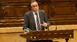El conseller Rull, avui al Parlament.
