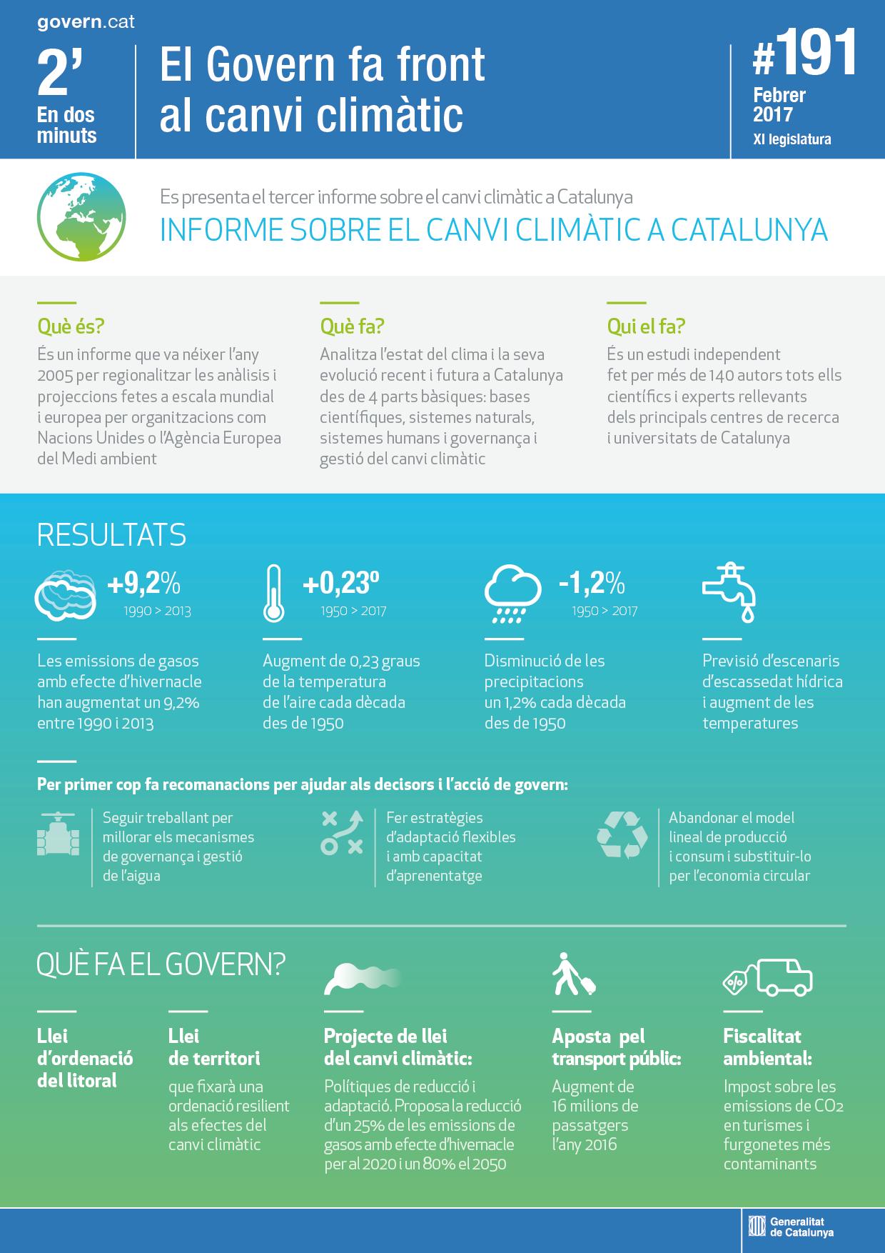 Informe canvi climàtic