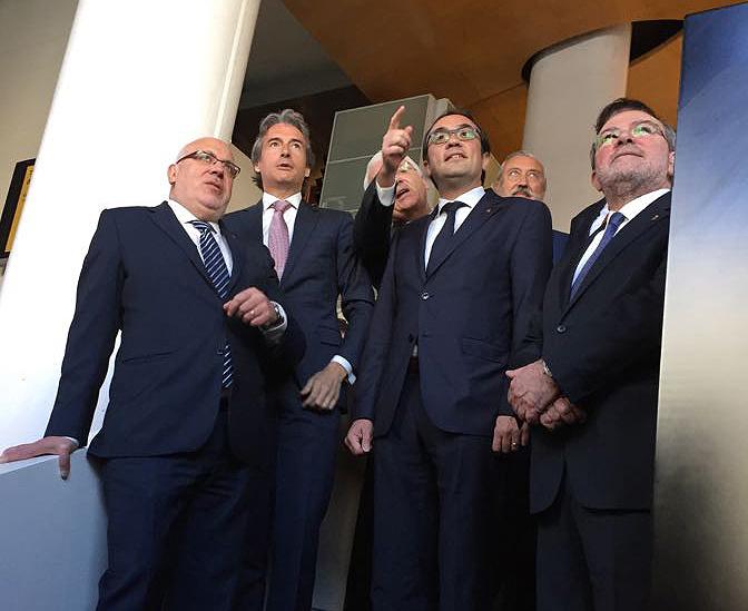 Rull i Baiget amb el ministre de Foment, avui a Madrid.