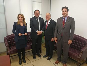 Reunió del vicepresident Junqueras amb el responsable econòmic de l'Estat de NovaYork, Thomas DiNapoli