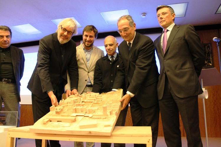 Un moment de la presentació del projecte guanyador, aquest matí a Barcelona.