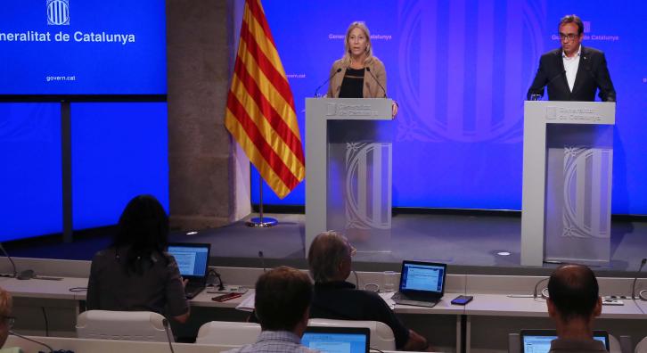 Foto de la roda de premsa. Autor: Rubén Moreno