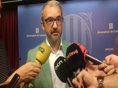 El secretari general, Josep Ginesta, a la roda de premsa de valoració de les dades d'atur