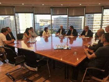 Imatge de la reunió sobre el futur de l'aeroport de Barcelona-el Prat.