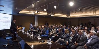 Fotografia de la intervenció del vicepresident, en un moment de l'acte
