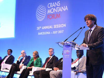 President Puigdemont inaugurates the Crans Montana Forum