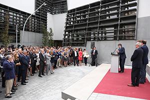 El president inaugurant el nou edifici. Autor: Jordi Bedmar