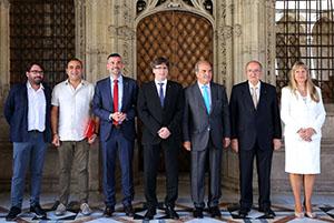 El president Puigdemont ha encapçalat la signatura del Pacte Nacional per la Indústria