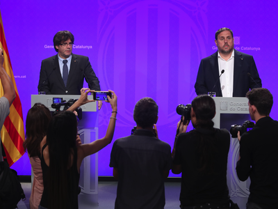 President Puigdemont and Vice-president Junqueras respond to the Court of Auditors' decision