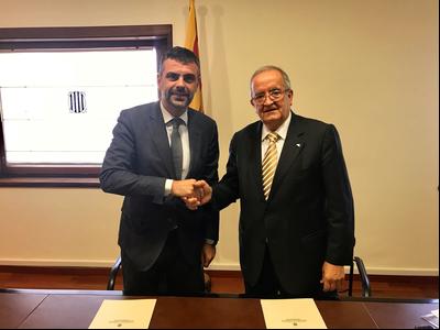 El conseller Vila i el president de PIMEC