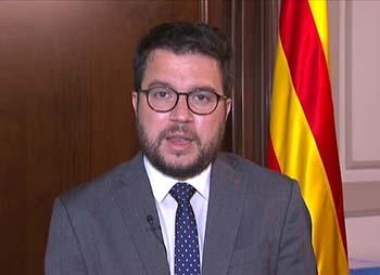 Fotografia del secretari d'Economia, Pere Aragonès, durant l'entrevista