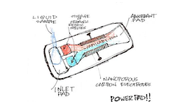 Disseny de la bateria portàtil biodegradable Powerpad.