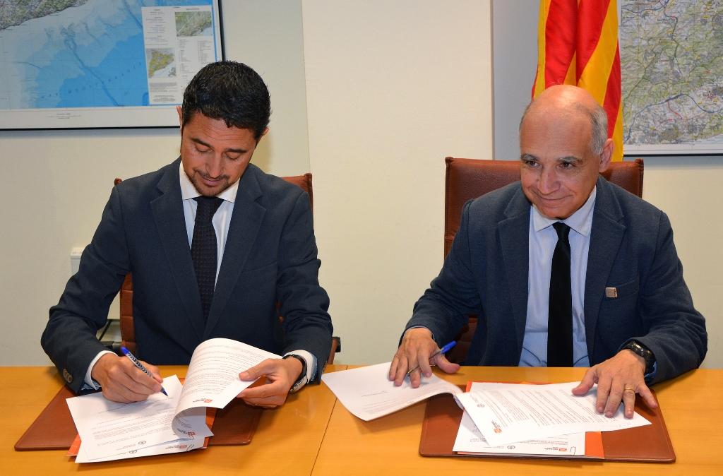 Damià Calvet, director de l'INCASÒL, i Lluís Xavier Comerón, degà del COAC.