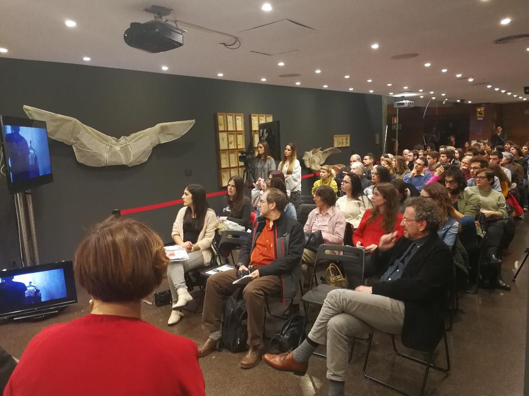 1a Sessió Reporters de Guerra cicle Periodisme CCLBlanquerna, públic