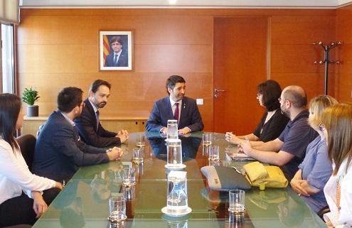 El conseller Puigneró es reuneix amb les ADIC