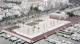 La plaça del Port de Vilanova i la Geltrú.