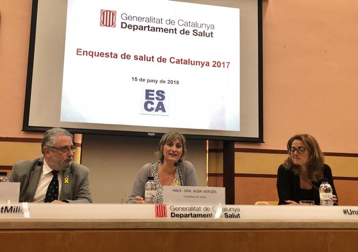 Joan Guix, Alba Vergés i Cristina Nadal, aquest matí.