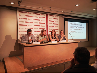 La dir. Gral de Comerç, Muntsa Vilalta, en la presentació al sector dels incentius al Comerç, l'Artesania i Moda per al 2018