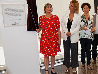 La consellera Vergés inaugura el nou CAP Josep de Masdevall Terrades de Figueres