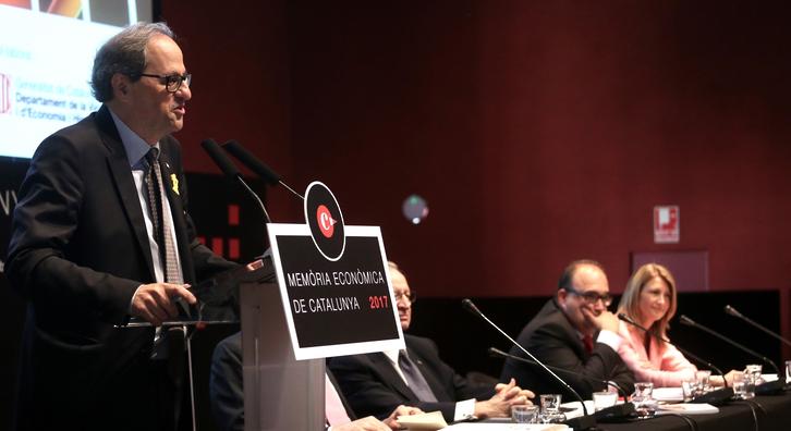 El president durant l'acte de presentació. Autor: Rubén Moreno