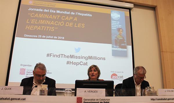 La consellera Vergés explica la voluntat política del Govern de Catalunya d'eradicar l'hepatitis C