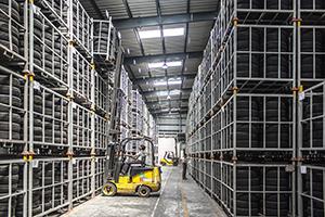 Fotografia del magatzem d'una empresa