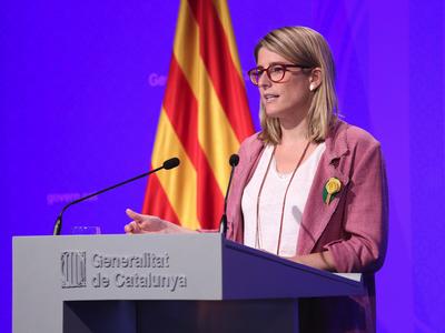 Foto de la roda de premsa del Govern (Jordi Bedmar)