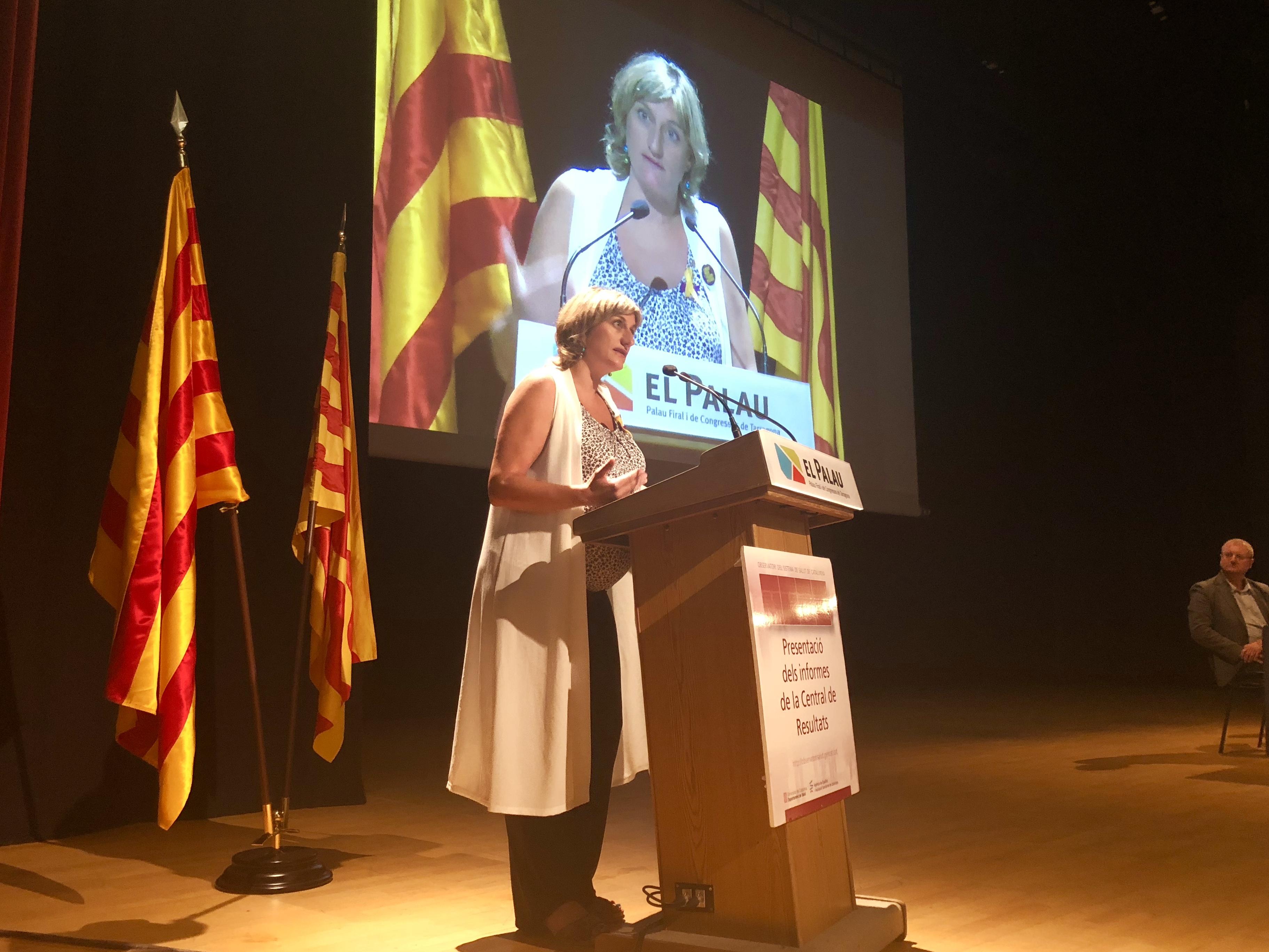 La consellera Vergés a l'acte de presentació de l'informe de la Central de Resultats