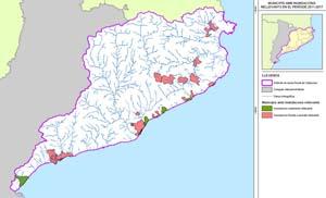 Zones amb inundacions rellevants durant el període 2011-2017.