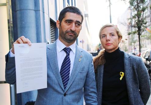 Puigneró i Joana Barbany a Brussel·les