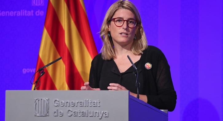 Roda de premsa del Govern - Elsa Artadi