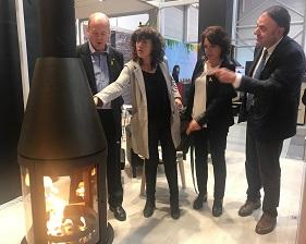 Moment de la visita inaugural de la Fira de la Biomassa i el Saló del Biogàs