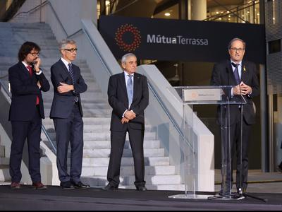 El president Torra a la inauguració dels nous espais assistencials de Mútua Terrassa (foto: Jordi Bedmar)