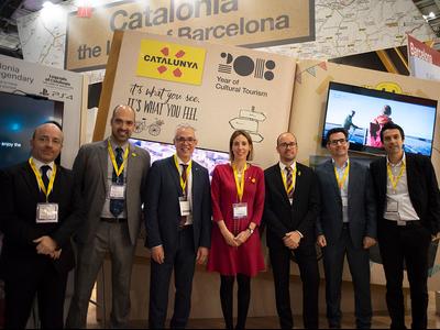 La delegació catalana a la WTM