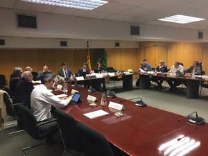 Sessió del consell celebrada avui.