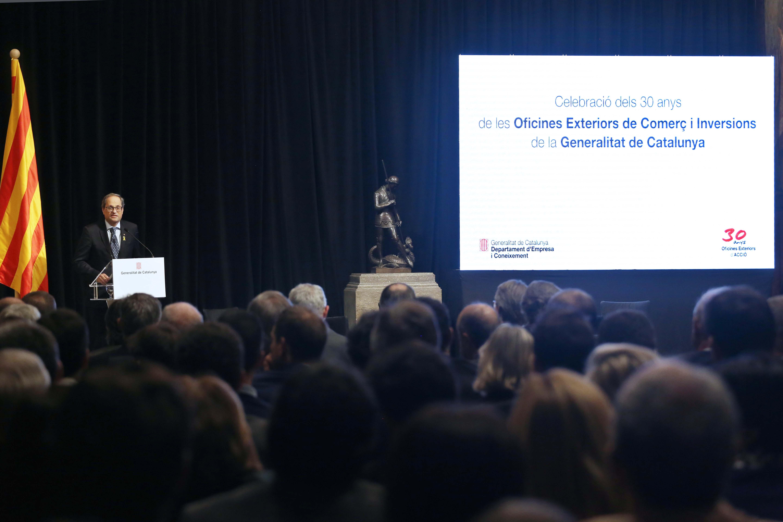El president Torra durant la seva intervenció al 30è aniversari d'ACCIÓ (Foto: Ruben Moreno)