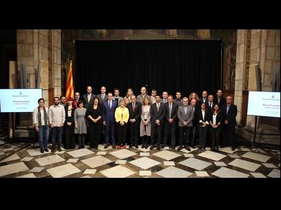 El president i el conseller, amb els alcaldes i regidors que han assistit a l'acte