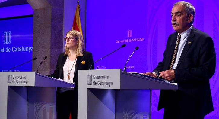 Foto de la roda de premsa del Govern (Rubén Moreno)