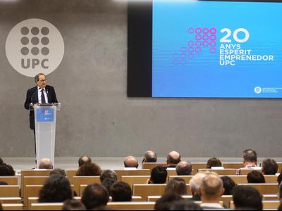 El president Torra clou el 20è aniversari del programa Innova de la UPC