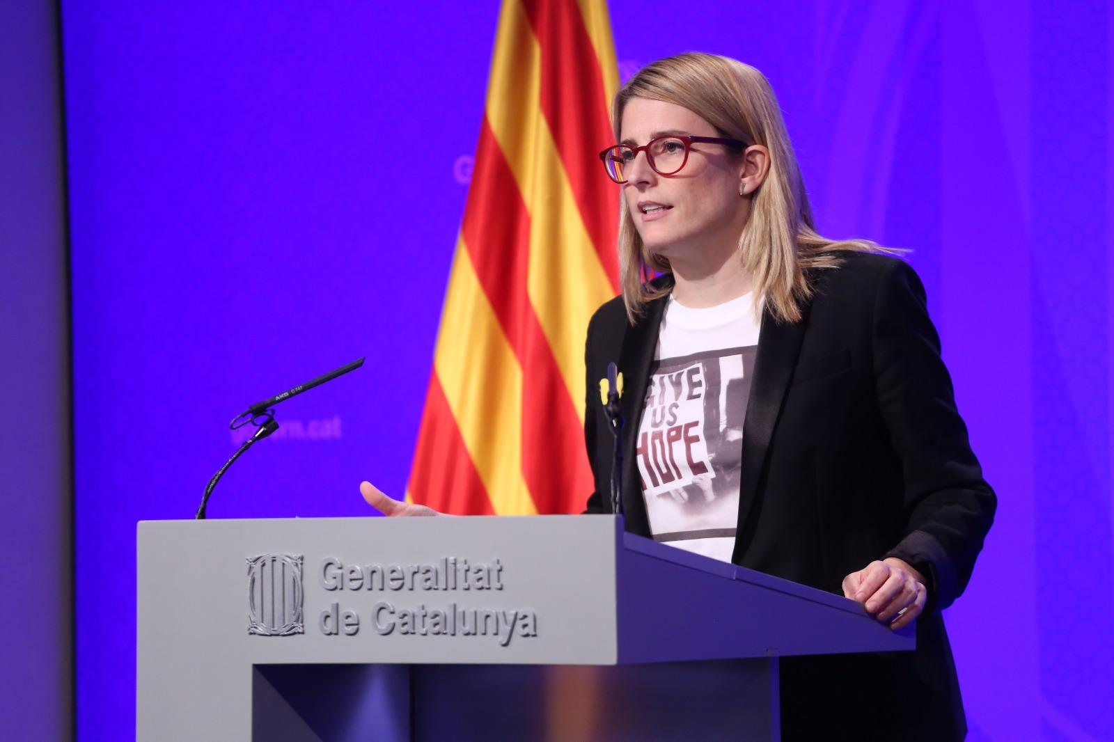Roda de premsa de la portaveu del Govern Elsa Artadi