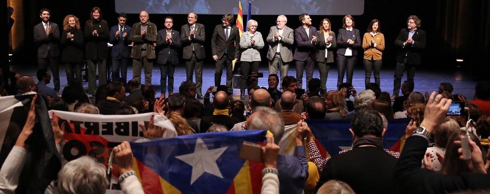 Fotografia de l'acte a Brussel·les del Consell per la República