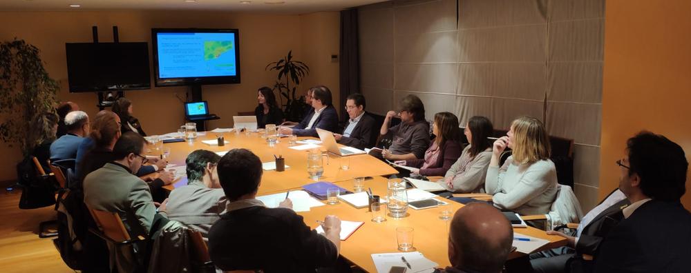 Moment de la reunió de la Comissió d'avaluació de l'Acord polític per a la millora de la qualitat de l'aire a la conurbació de Barcelona.