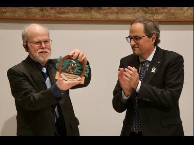 El president Torra ha lliurat el Premi Margalef al doctor Carpenter
