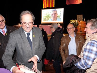 El president Torra a Falset (foto: Andreu Puig)