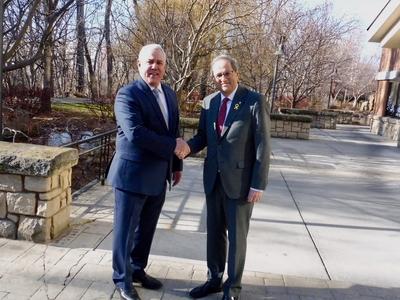 El president s'ha reunit amb l'alcalde de Boise