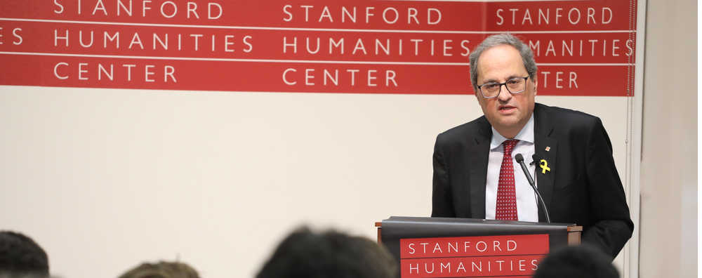 El president Torra va pronunciar una conferència a la Universitat d'Stanford convidat pel director del The Martin Luther King Institute
