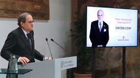 President Torra declares Vinton Cerf winner of 30th Catalonia International Prize