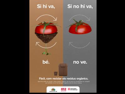 Imatge de la darrera campanya de foment de la recollida selectiva de la fracció orgànica dels residus municipals.